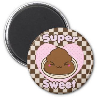 Chocolate con leche dulce estupendo Poo Iman Para Frigorífico