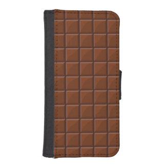 Chocolate con leche cartera para teléfono