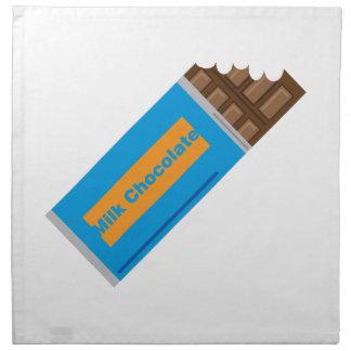 Chocolate con leche servilletas imprimidas
