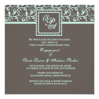 Chocolate Concerto Invitation