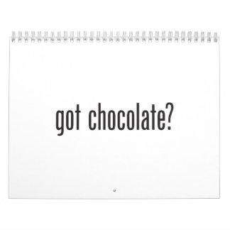 chocolate conseguido calendario