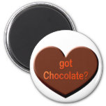 ¿Chocolate conseguido? Imanes De Nevera