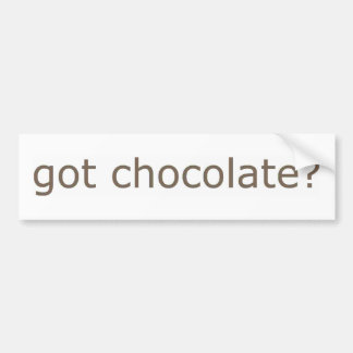 ¿Chocolate conseguido? Pegatina Para Auto