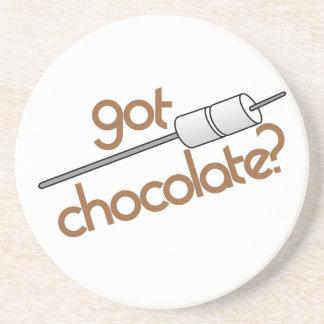 ¿Chocolate conseguido? Posavasos De Arenisca