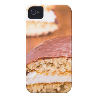 Chocolate cookies with milk souffle on a brown iPhone 4 Case-Mate case