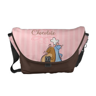 Chocolate Courier Bag