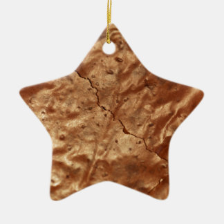 Chocolate cover of a cake ceramic ornament