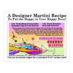 Chocolate Covered Cherry Martini Recipe Postcard