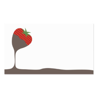 chocolate covered dipped strawberry chef catering business card