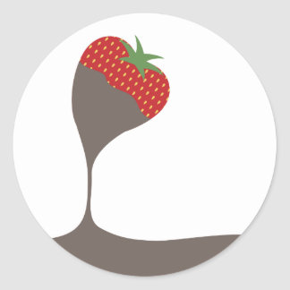 chocolate covered dipped strawberry kitchen gift t classic round sticker