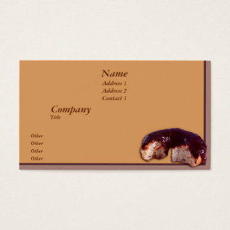 Chocolate Covered Donut Business Card