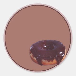 Chocolate Covered Donut Classic Round Sticker