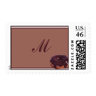 Chocolate Covered Donut Postage Stamp
