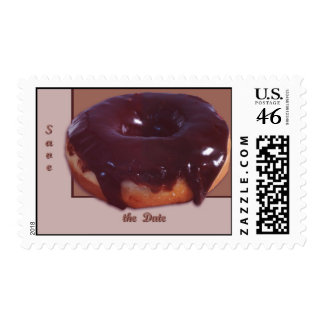 Chocolate Covered Donut Postage Stamps