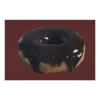 Chocolate Covered Donut Poster