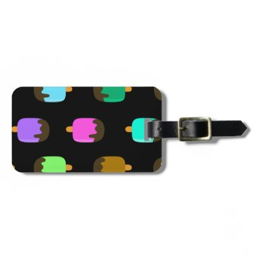 Beach Themed Chocolate covered ice pops luggage tag