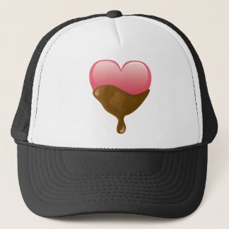 Chocolate Covered Pink Valentine's Day Heart Trucker Hat