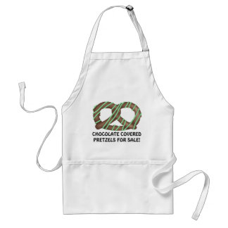 Chocolate Covered Pretzels for sale! Adult Apron