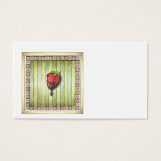 CHOCOLATE COVERED STRAWBERRY BUSINESS CARD