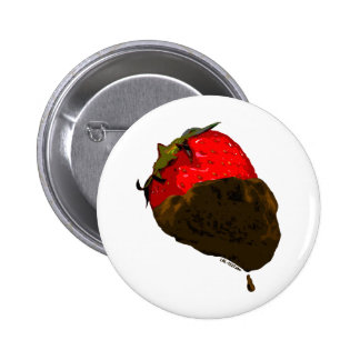 Chocolate-Covered Strawberry 2 Inch Round Button