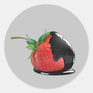 Chocolate Covered Strawberry Classic Round Sticker