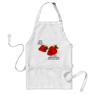 Chocolate Covered Strawberry Joke Adult Apron
