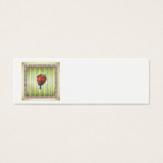 CHOCOLATE COVERED STRAWBERRY MINI BUSINESS CARD