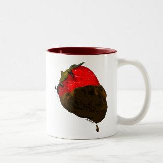 Chocolate-Covered Strawberry Two-Tone Coffee Mug