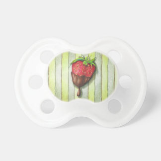 CHOCOLATE COVERED STRAWBERRY PACIFIER