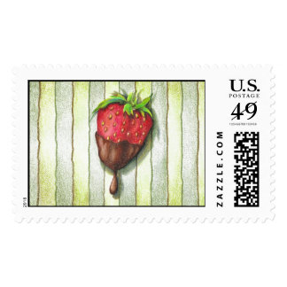 CHOCOLATE COVERED STRAWBERRY STAMPS
