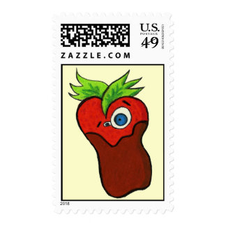 CHOCOLATE COVERED STRAWBERRY POSTAGE STAMPS