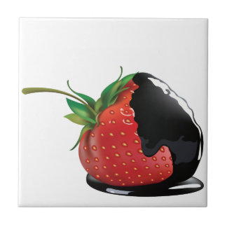 Chocolate Covered Strawberry Tile