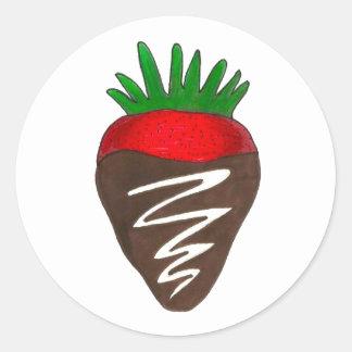 Chocolate Covered Strawberry Valentine Stickers