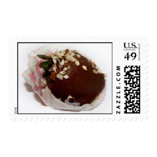 Chocolate Covered Strawberry With Nuts Postage