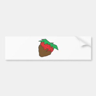 chocolate covered strawberry yum bumper stickers