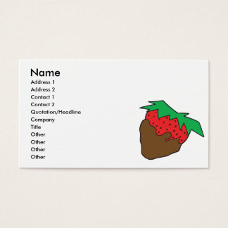 chocolate covered strawberry yum business card