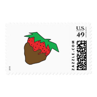 chocolate covered strawberry yum postage stamps