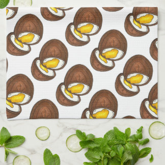Chocolate Cream Easter Basket Egg Candy Towel