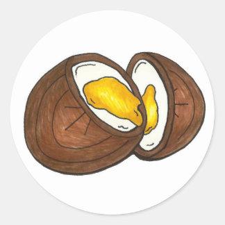 Chocolate Cream Easter Egg Candy Eggs Chocoholic Classic Round Sticker