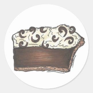 Chocolate Cream Pie Stickers