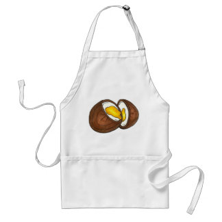 Chocolate Creme Cream Egg Easter Basket Candy Adult Apron
