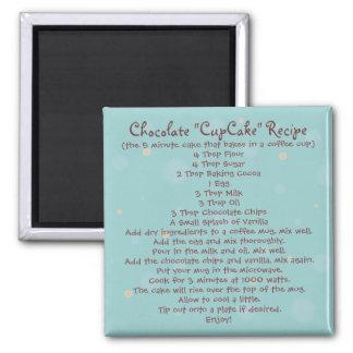 """Chocolate """"Cup Cake"""" in a Mug Recipe - Magnet"""