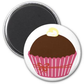 Chocolate Cupcake 2 Inch Round Magnet