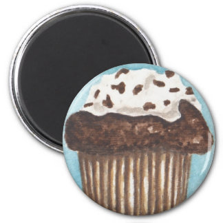 Chocolate Cupcake 2 Inch Round Magnet