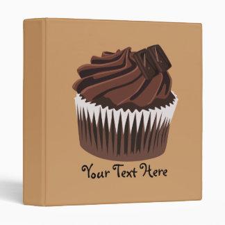 Chocolate Cupcake 3 Ring Binder