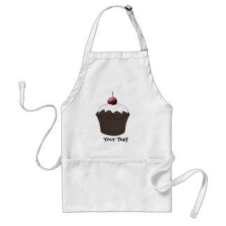 Chocolate cupcake aprons