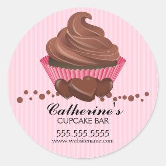 Chocolate Cupcake Bakery Stickers