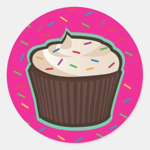 Chocolate Cupcake Classic Round Sticker