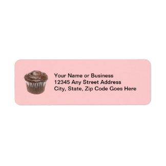 Chocolate Cupcake Custom Name Label