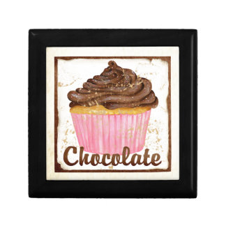 Chocolate cupcake gift box